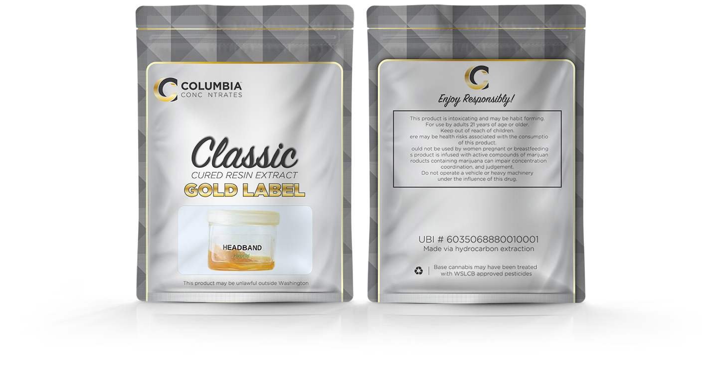 Columbia Concentrates Packaging Mockup