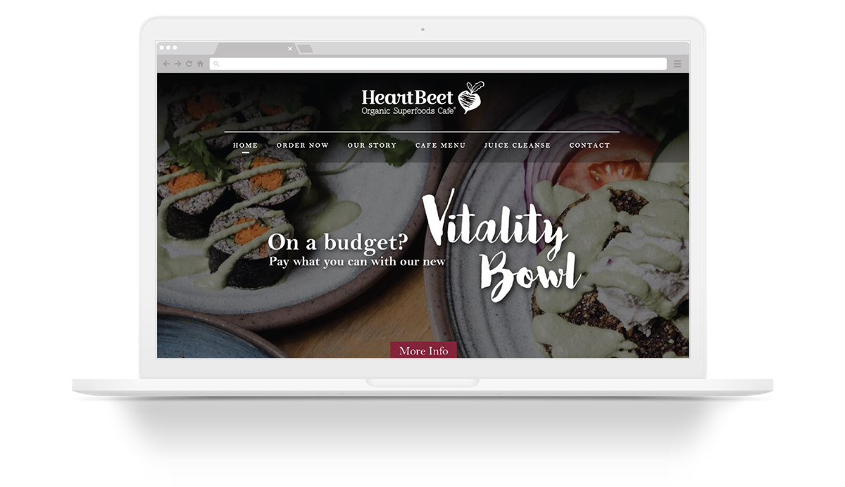 Heartbeet Web Design Mockup Laptop