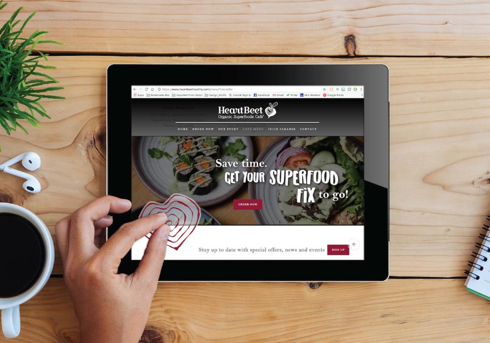 Heartbeet Website Tablet