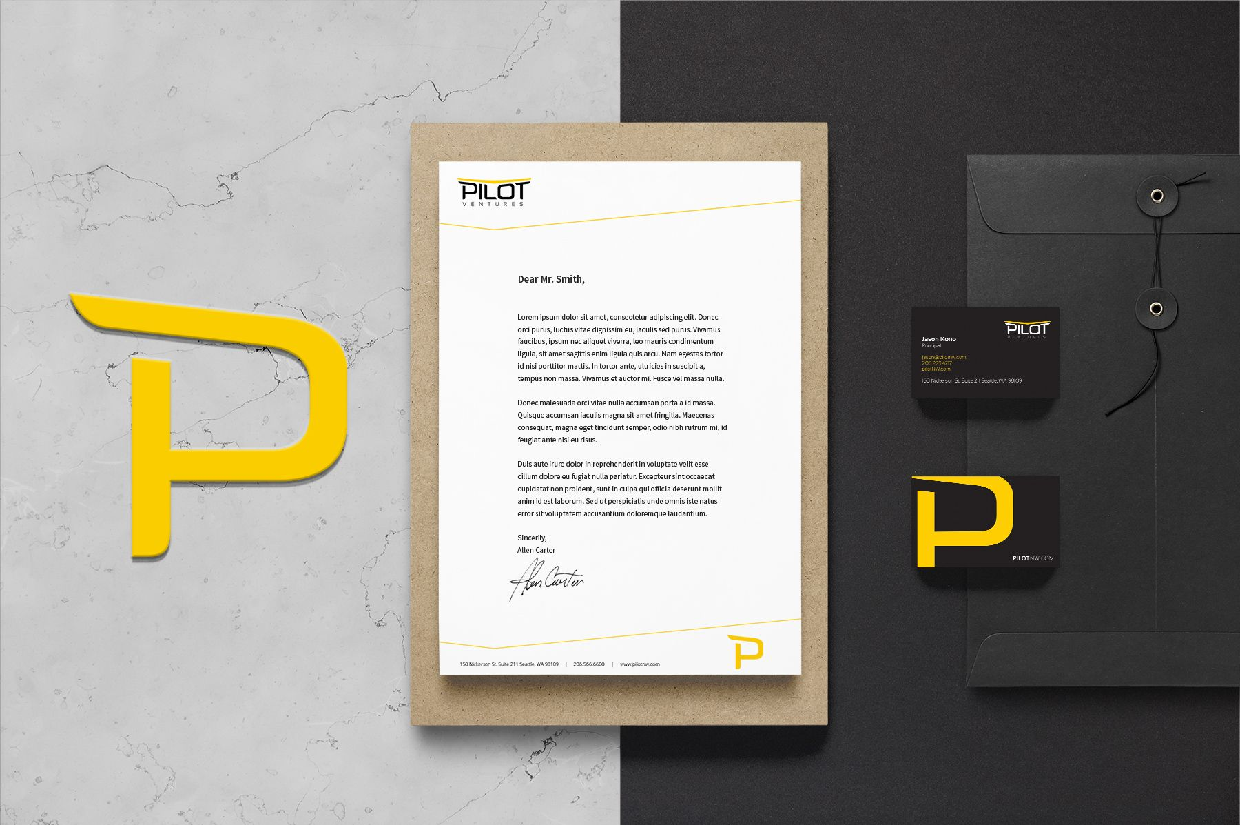 Pilot Branding Identity Mockup