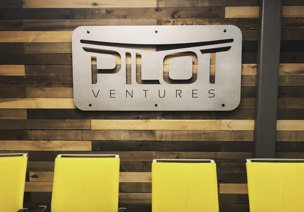 Pilot Logo On Wood Surface